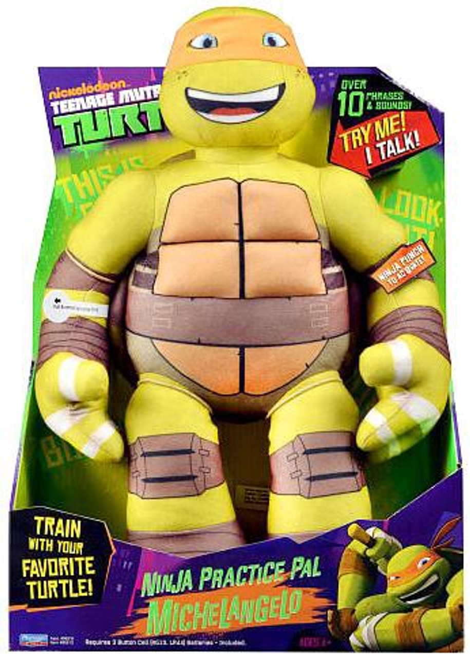 Teenage Mutant Ninja Turtles Nickelodeon Ninja Practice Pal Michelangelo 15-Inch Plush