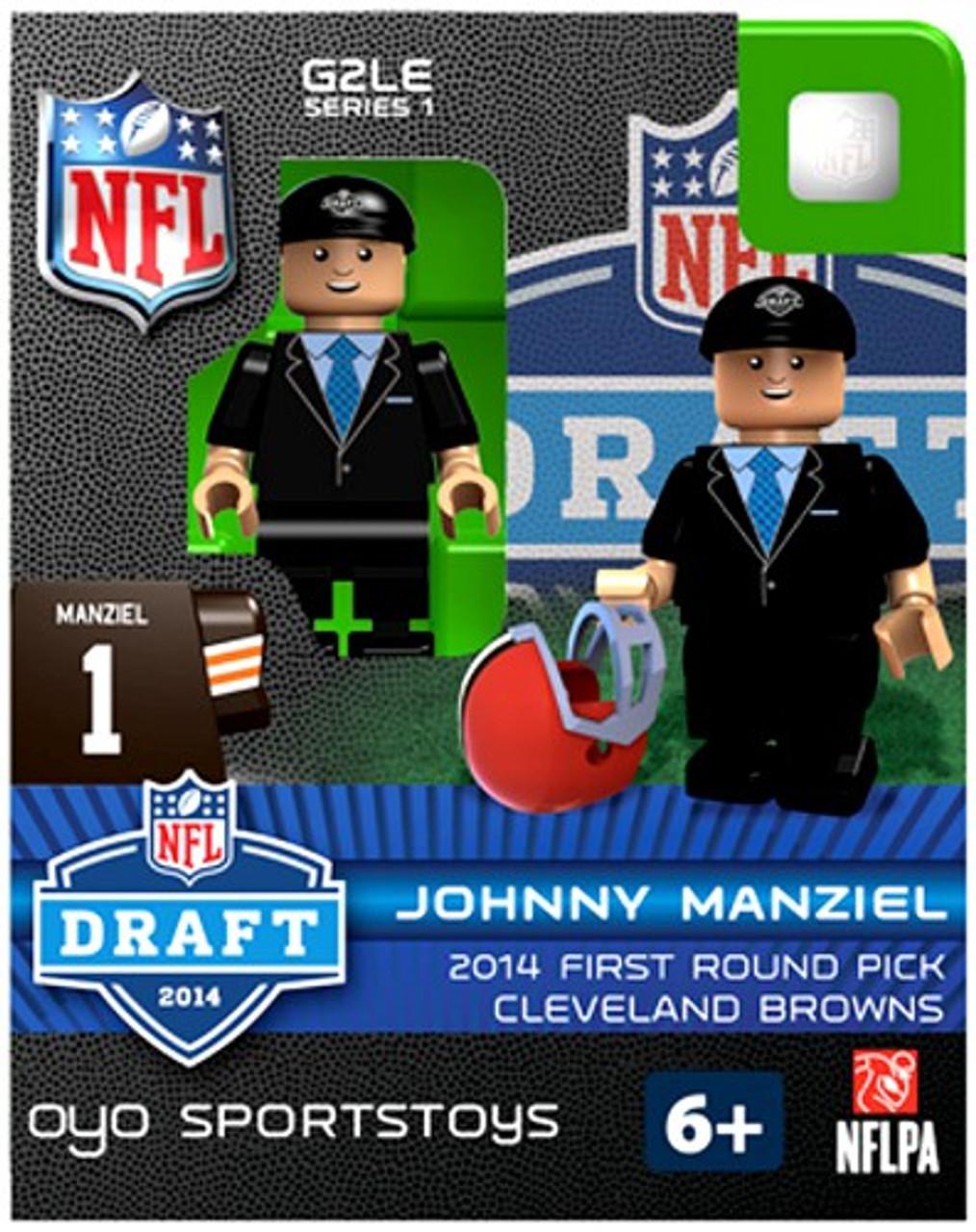 Cleveland Browns NFL 2014 Draft First Round Picks Johnny Manziel Minifigure