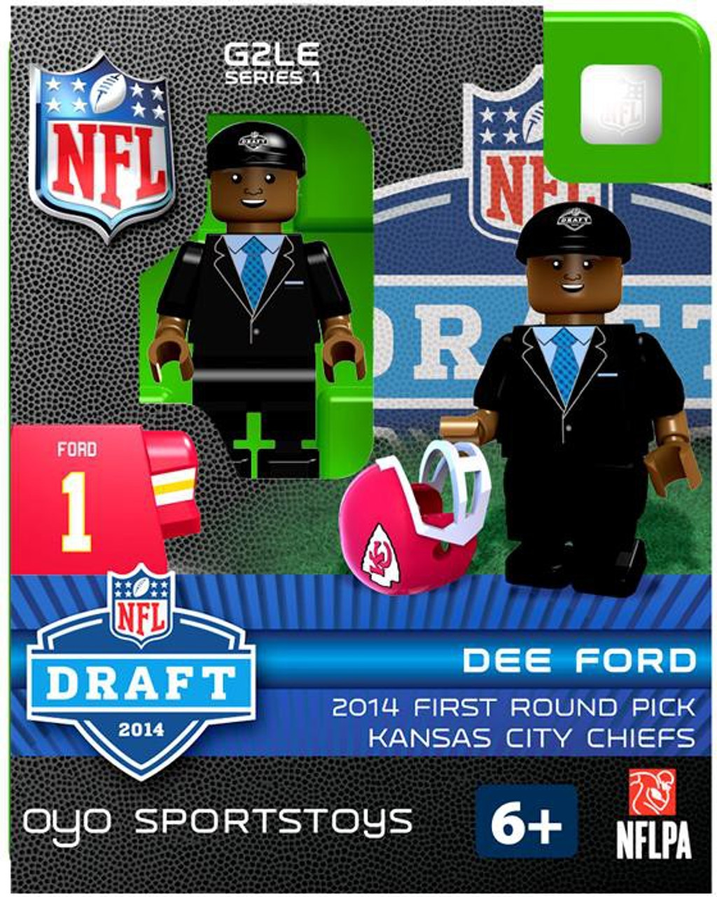 Kansas City Chiefs NFL 2014 Draft First Round Picks Dee Ford Minifigure