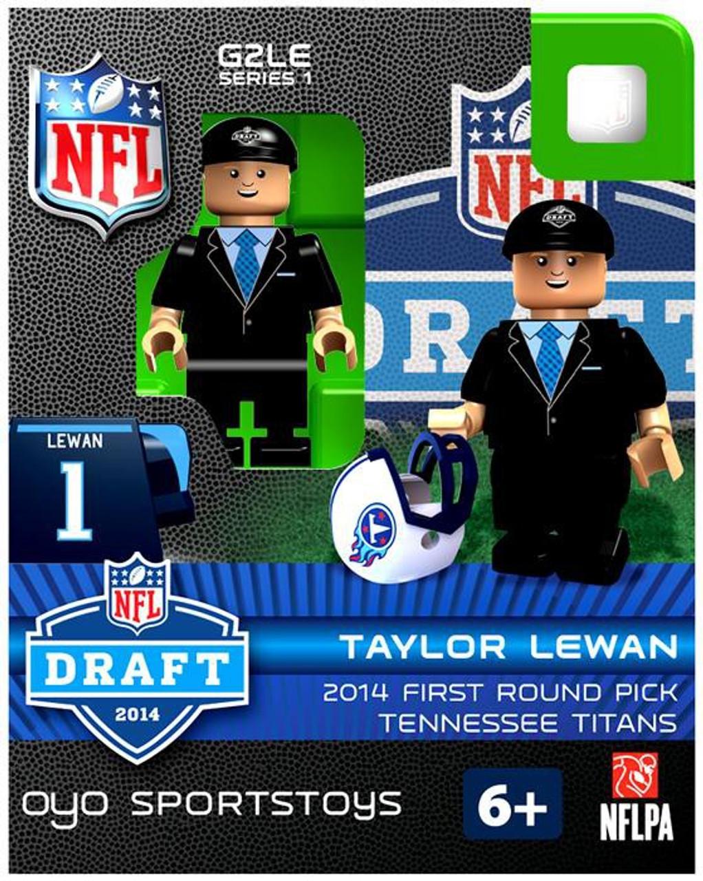 Tennessee Titans NFL 2014 Draft First Round Picks Taylor Lewan Minifigure
