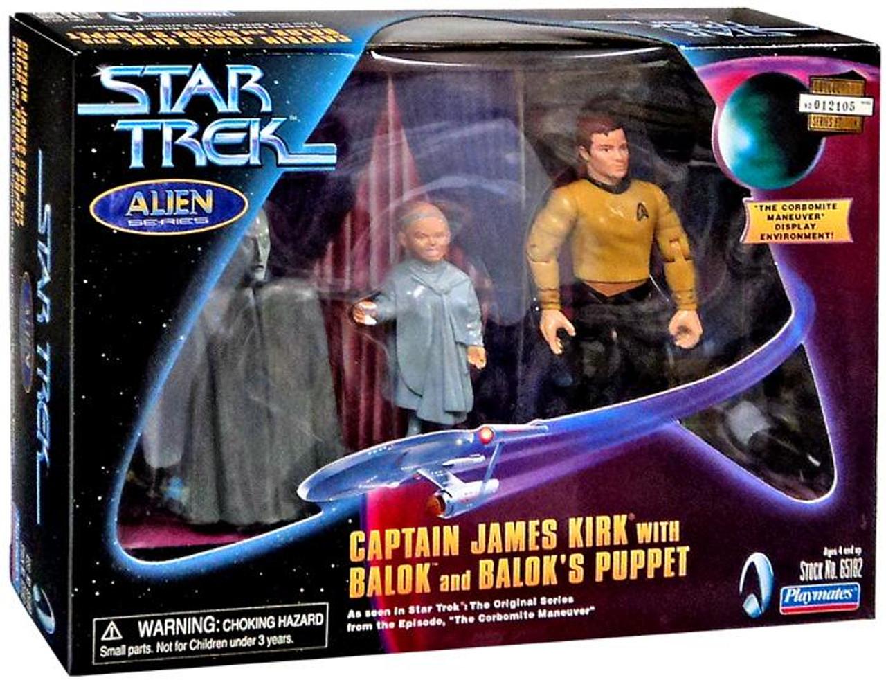 Star Trek The Original Series Captain James Kirk with Balok & Balok's Puppet Action Figure 3-Pack