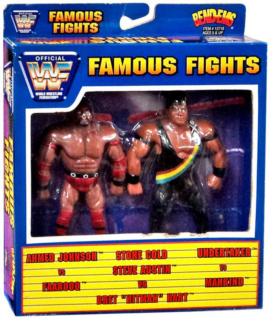 WWE Wrestling WWF Famouse Fights Bend-Ems Ahmed Johnson Vs Faarooq Action Figure