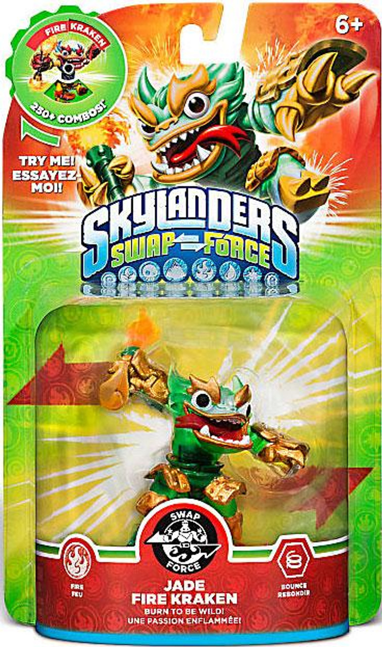 Skylanders Swap Force Swappable Jade Fire Kraken Figure Pack