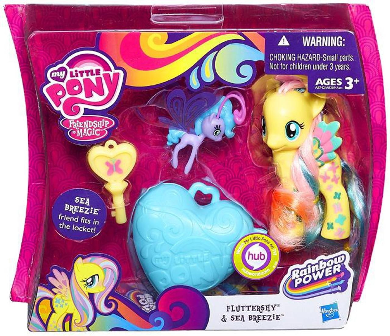 My Little Pony Friendship is Magic Rainbow Power Fluttershy & Sea Breezie Figure 2-Pack