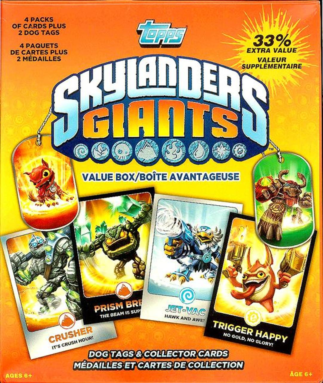 Skylanders Giants Trading Card Value Box