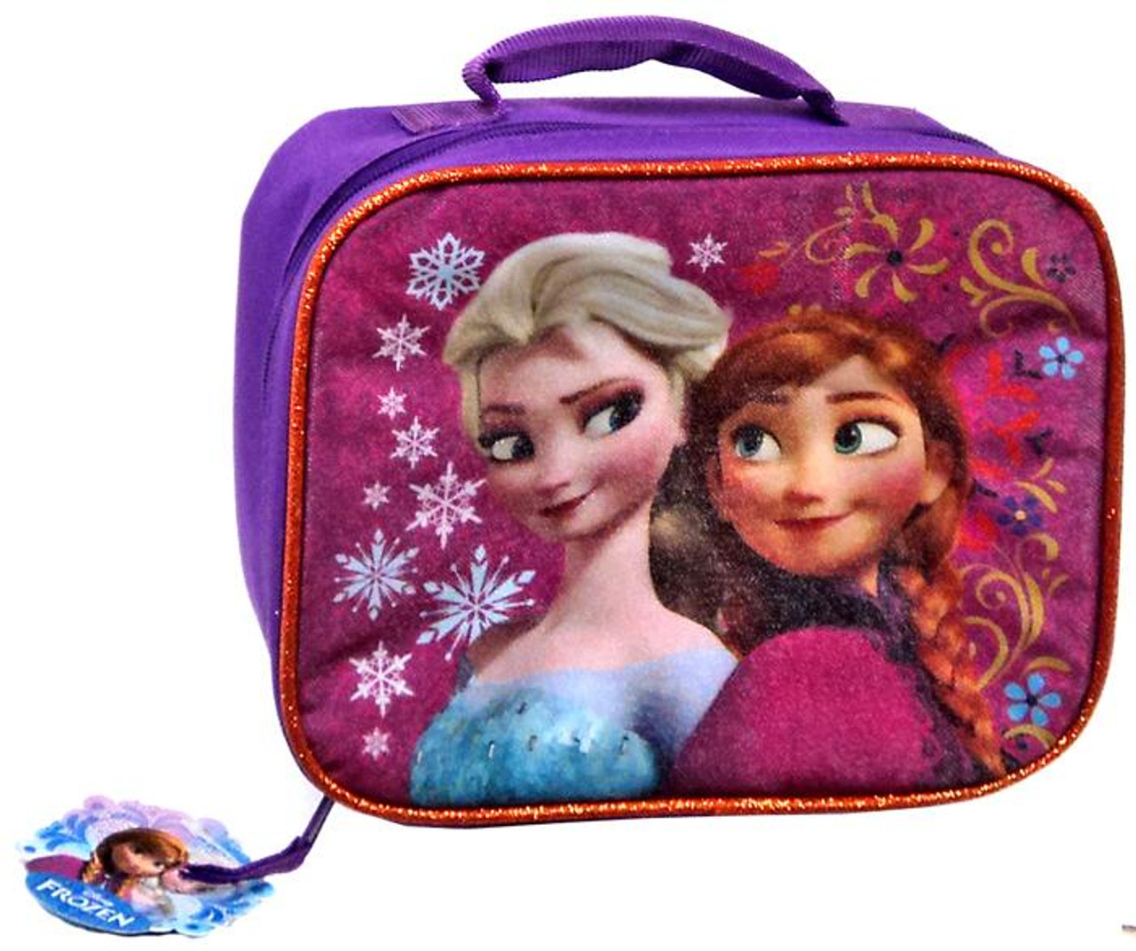 Disney Frozen Anna & Elsa Lunch Tote [Flowers & Snowflakes]