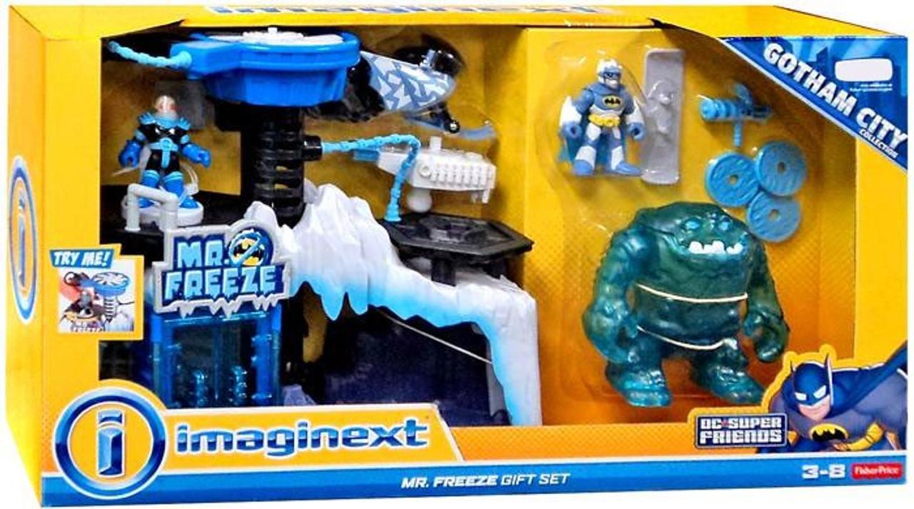 Fisher Price DC Super Friends Batman Imaginext Mr. Freeze Gift Set Exclusive Playset