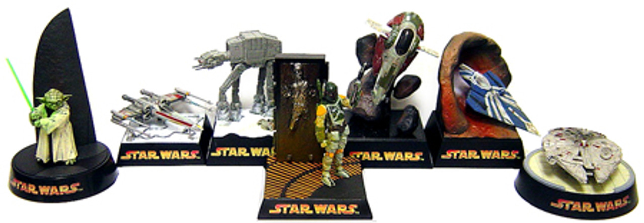 Star Wars Japanese Dioramas Set of 7 Diorama PVC Figures