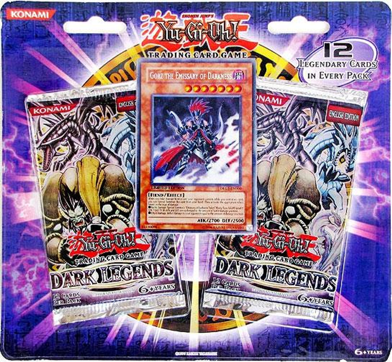 YuGiOh Dark Legends Special Edition Pack [Gorz Emissary of Darkness Card & 2 Dark Legends Booster Packs] [Sealed]