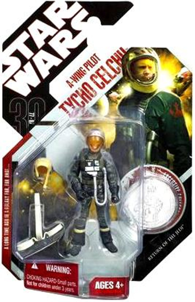 Star Wars Return of the Jedi 30th Anniversary 2007 Wave 7 A-Wing Pilot Tycho Celchu Action Figure #44
