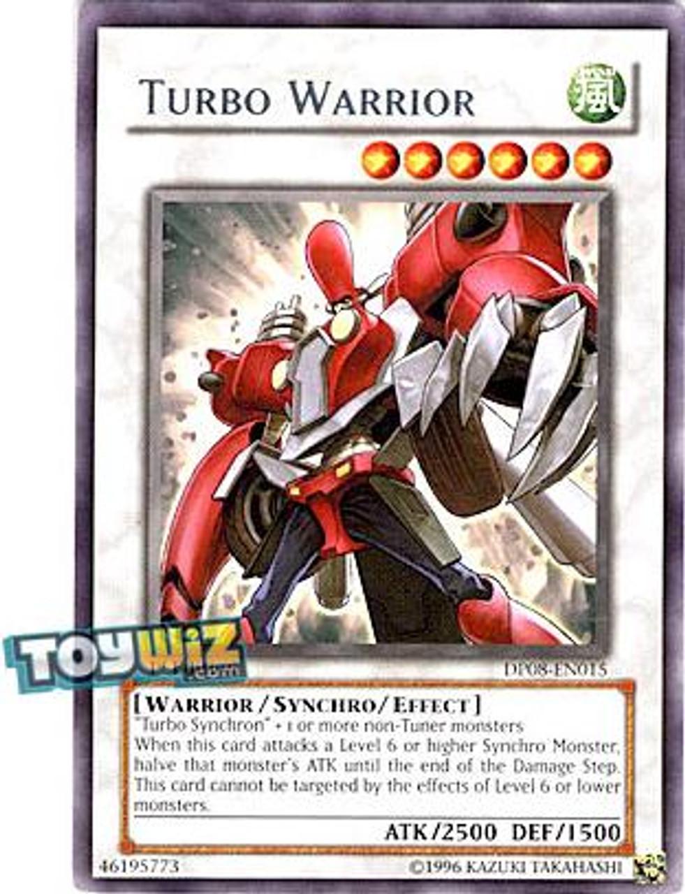 YuGiOh 5D's Duelist Pack Yusei Fudo Rare Turbo Warrior DP08-EN015