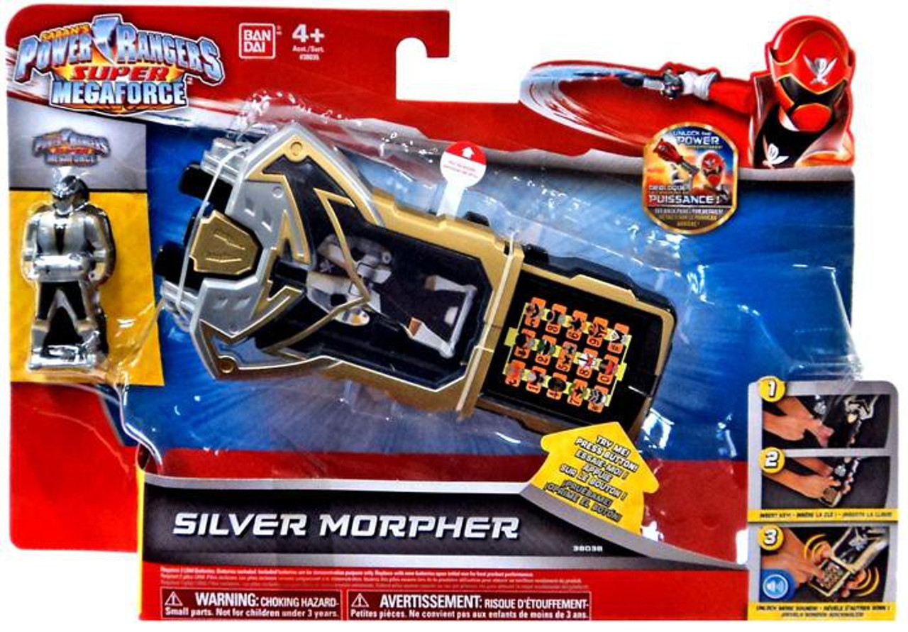 Power Rangers Super Megaforce Silver Morpher Roleplay Toy