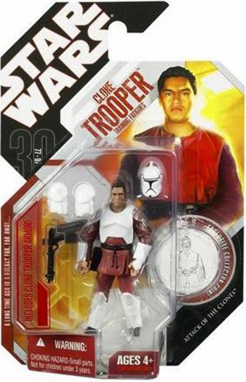 Star Wars Attack of the Clones 30th Anniversary 2007 Wave 9 Clone Trooper Action Figure #55 [Training Clothes]