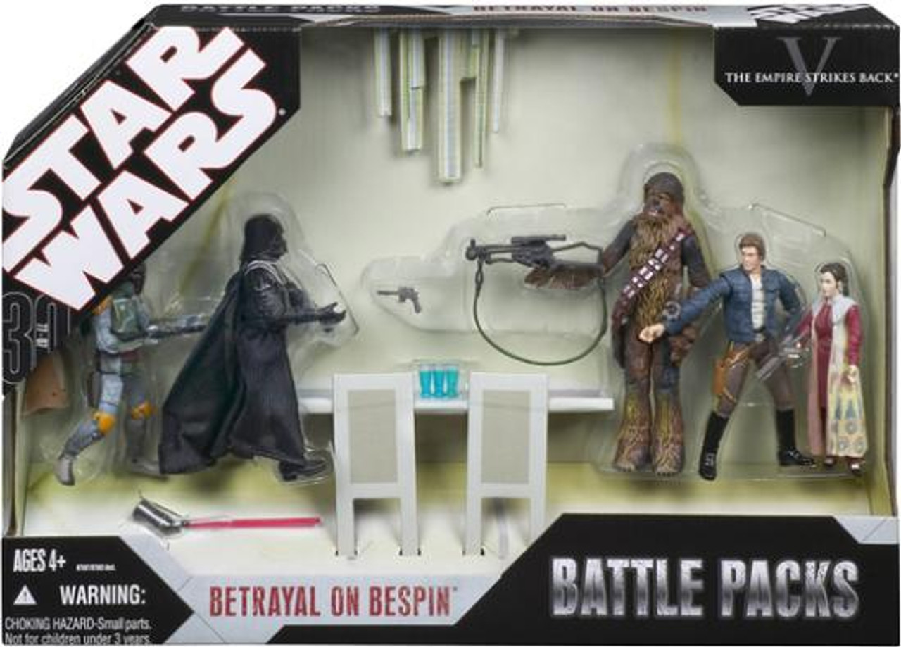 Star Wars Empire Strikes Back Battle Packs 2007 Betrayal On Bespin Exclusive Action Figure Set