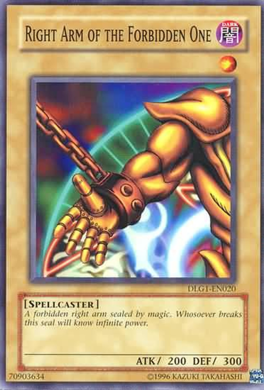 YuGiOh Dark Legends Common Right Arm of the Forbidden One DLG1-EN020