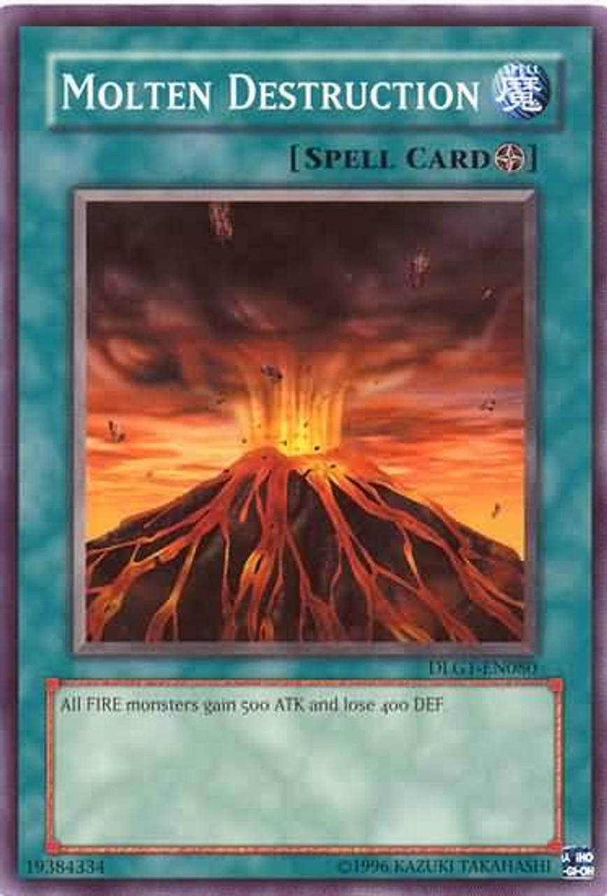 YuGiOh Dark Legends Common Molten Destruction DLG1-EN080