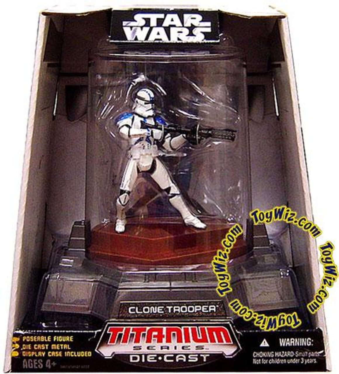 Star Wars The Clone Wars Titanium Series 2007 Clone Trooper Diecast Figure