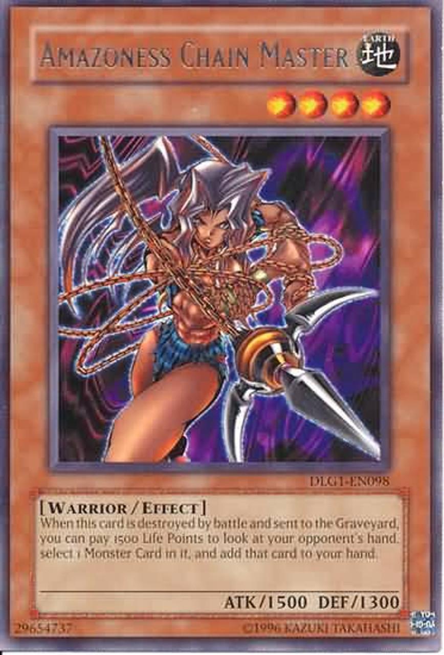 YuGiOh Dark Legends Rare Amazoness Chain Master DLG1-EN098