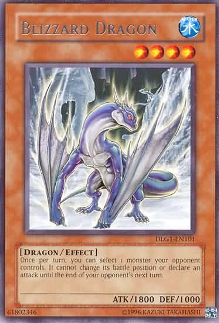 YuGiOh Dark Legends Rare Blizzard Dragon DLG1-EN101