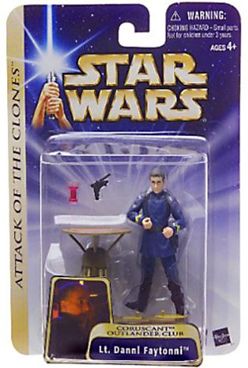 Star Wars Attack of the Clones Basic 2004 Lt. Dannl Faytonni Action Figure #29 [Coruscant Outlander Club]