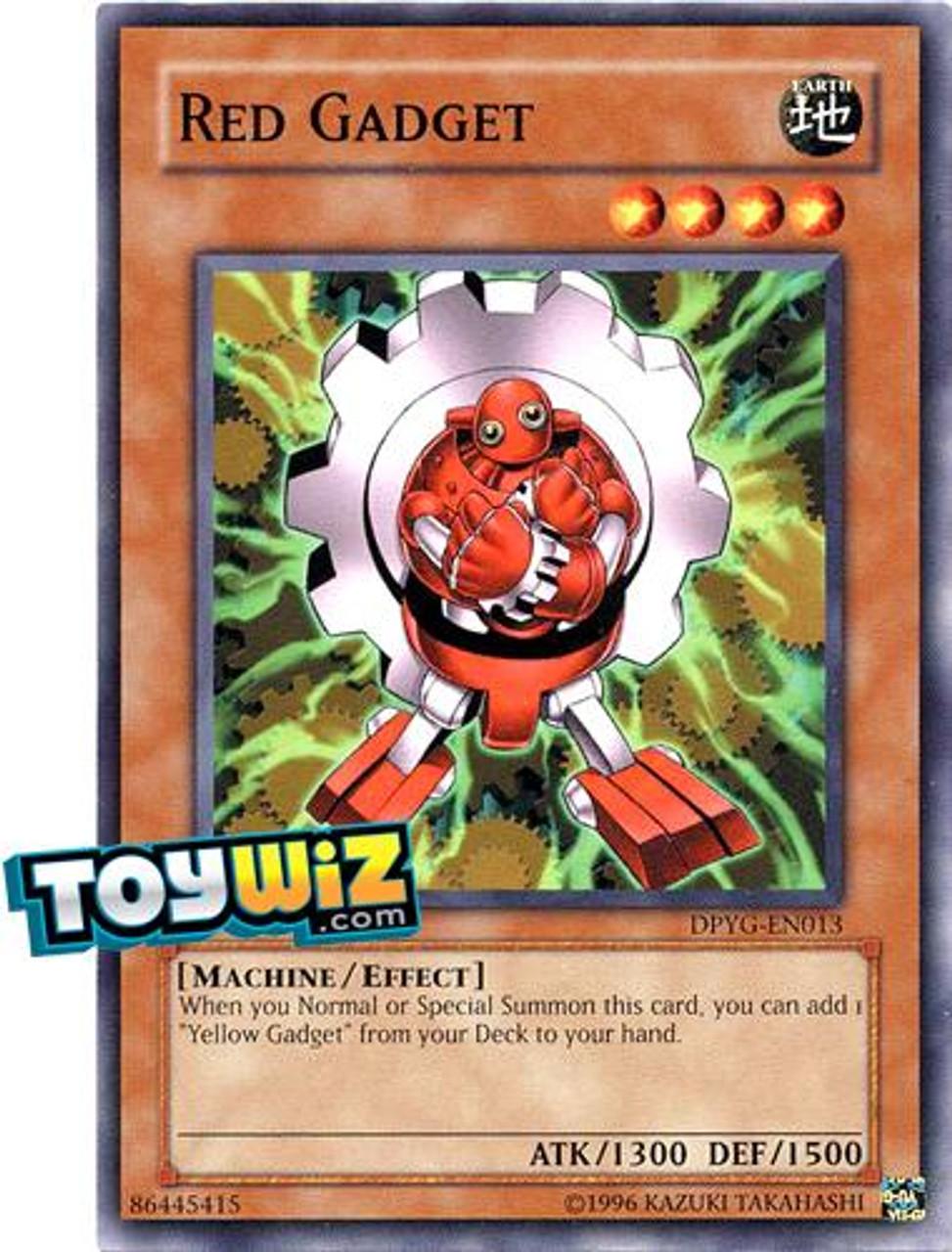 YuGiOh Duelist Pack Yugi Common Red Gadget DPYG-EN013