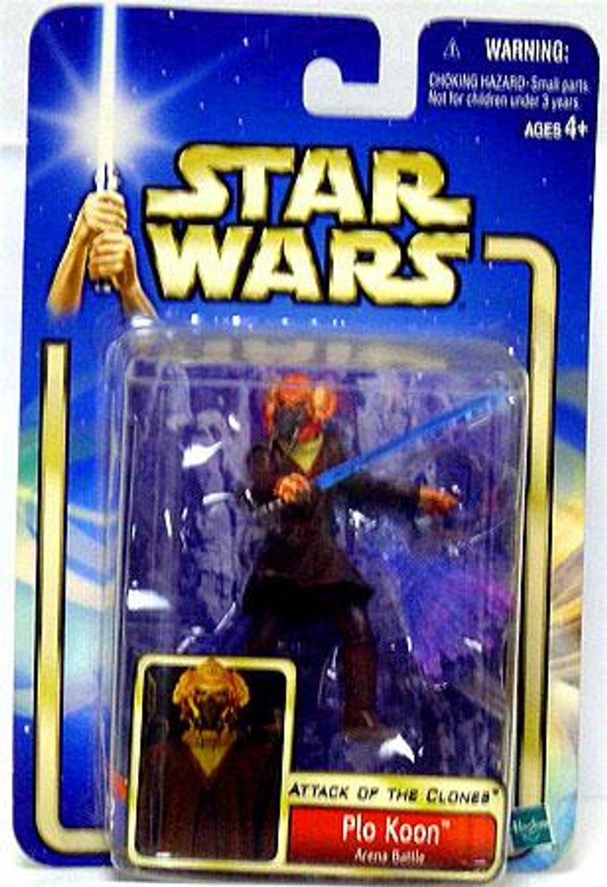 Star Wars Attack of the Clones Saga 2002 Plo Koon Action Figure #12 [Arena Battle]