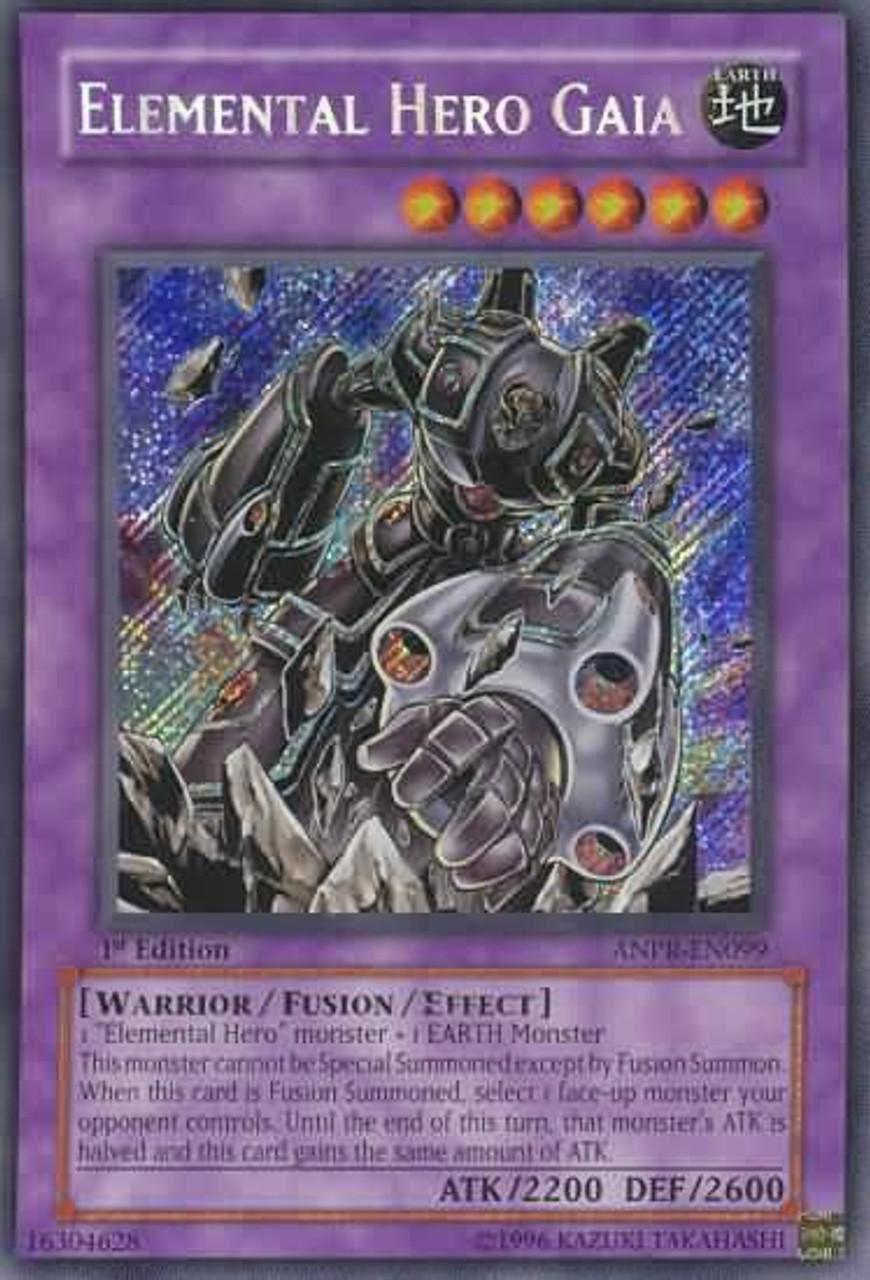 YuGiOh Ancient Prophecy Secret Rare Elemental Hero Gaia ANPR-EN099