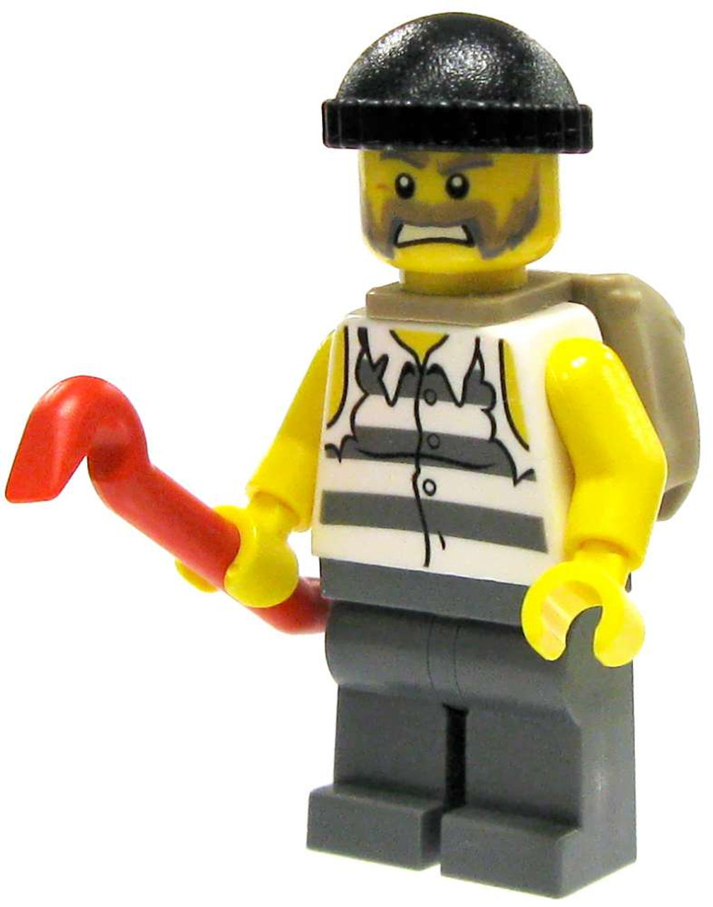 lego city loose crook with crowbar and loot sack. Black Bedroom Furniture Sets. Home Design Ideas
