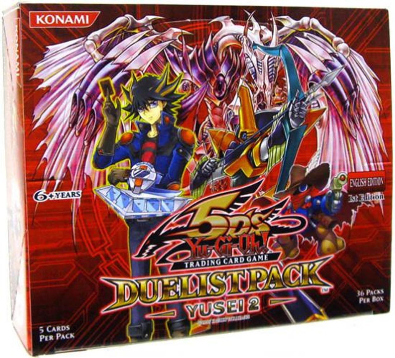YuGiOh Duelist Pack Yusei 2 Booster Box [36 Packs] [Sealed]