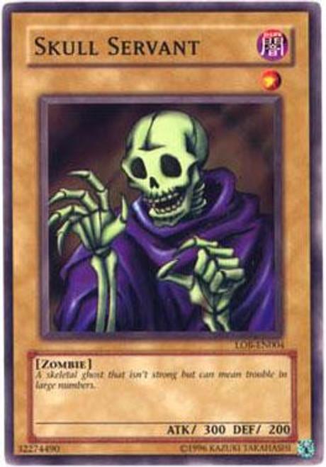 YuGiOh Legend of Blue Eyes White Dragon Common Skull Servant LOB-004