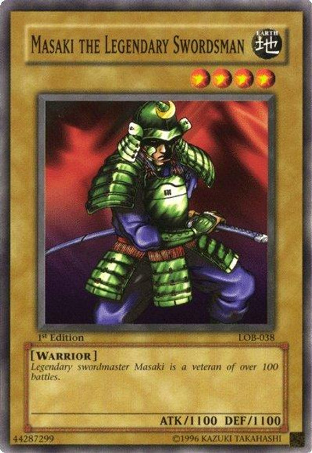YuGiOh Legend of Blue Eyes White Dragon Common Masaki the Legendary Swordsman LOB-038