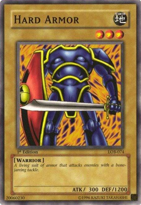 YuGiOh Legend of Blue Eyes White Dragon Common Hard Armor LOB-074