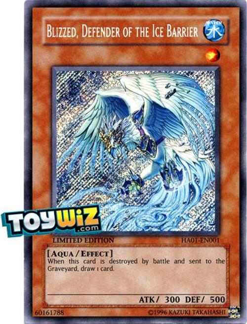 YuGiOh Hidden Arsenal 1 Secret Rare Blizzed, Defender of Ice Barrier HA01-EN001