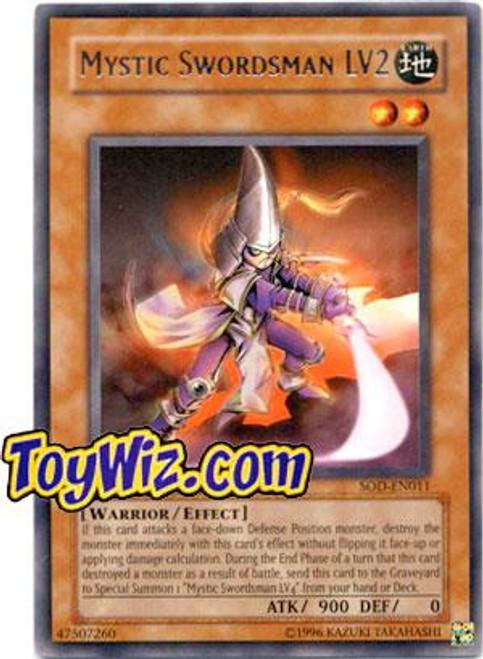 YuGiOh Soul of the Duelist Rare Mystic Swordsman LV2 SOD-EN011