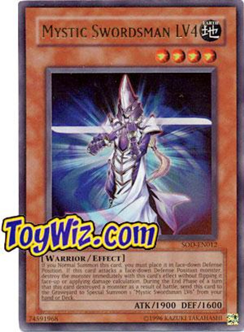 YuGiOh Soul of the Duelist Ultra Rare Mystic Swordsman LV4 SOD-EN012