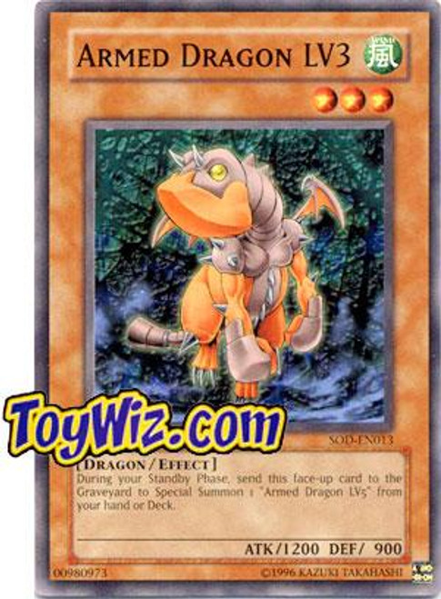 YuGiOh Soul of the Duelist Common Armed Dragon LV3 SOD-EN013