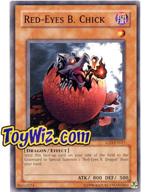 YuGiOh Soul of the Duelist Common Red-Eyes B. Chick SOD-EN017