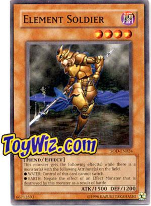 YuGiOh Soul of the Duelist Common Element Soldier SOD-EN024