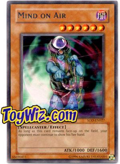 YuGiOh Soul of the Duelist Rare Mind on Air SOD-EN027