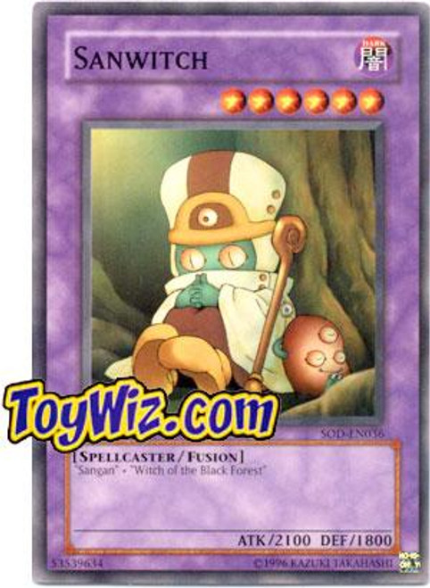 YuGiOh Soul of the Duelist Common Sanwitch SOD-EN036