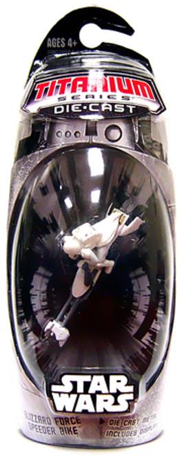 Star Wars Expanded Universe Titanium Series 2007 Blizzard Force Speeder Bike Exclusive Diecast Vehicle