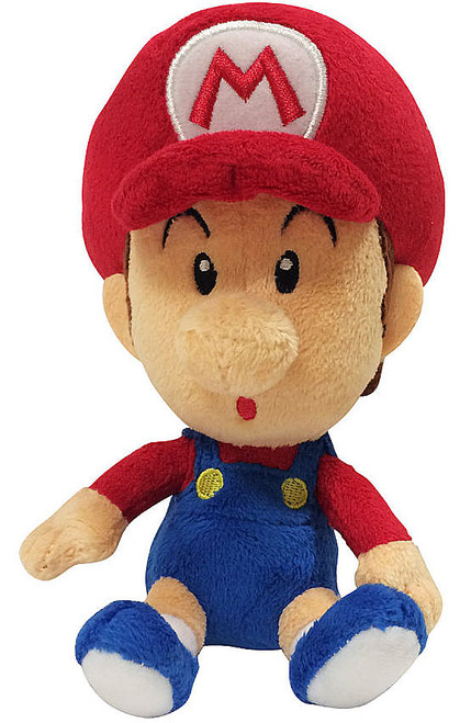 Super Mario World of Nintendo Baby Mario 7 Plush Jakks ...