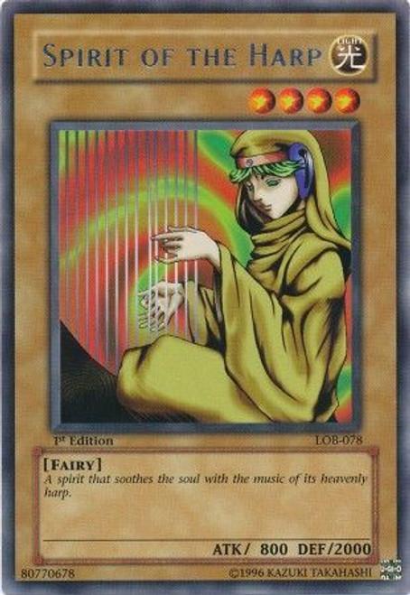 YuGiOh Legend of Blue Eyes White Dragon Rare Spirit of the Harp LOB-078
