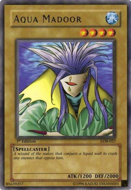 YuGiOh Legend of Blue Eyes White Dragon Rare Aqua Madoor LOB-027