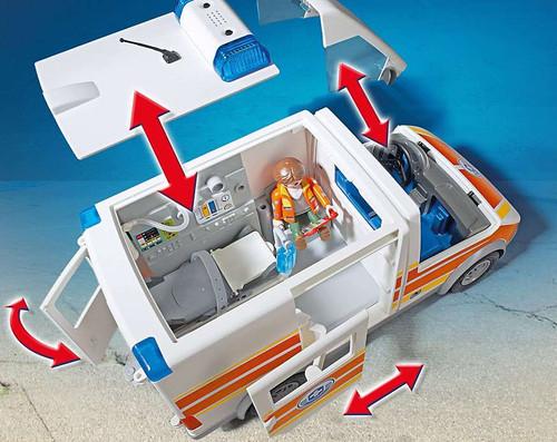Playmobil City Action Ambulance With Siren Set 5541 Toywiz