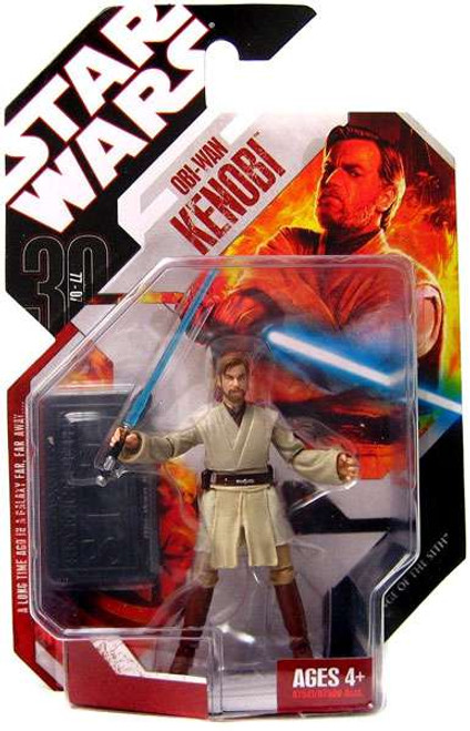 Star Wars Revenge of the Sith 30th Anniversary 2008 Wave 1 Obi-Wan Kenobi Action Figure #1 [On Lava Platform]