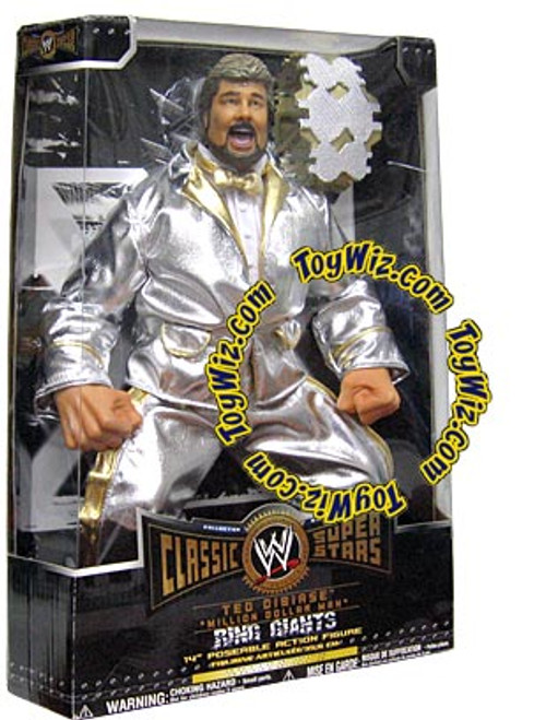 "WWE Wrestling Classic Superstars Ring Giants Ted Dibiase ""Million Dollar Man"" Action Figure [Damaged Package]"