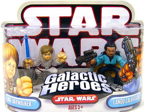 Star Wars Empire Strikes Back Galactic Heroes 2007 Luke Skywalker & Lando Calrissian Mini Figure