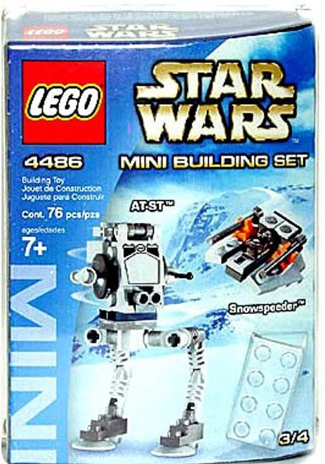 LEGO Star Wars The Empire Strikes Back Mini Building Sets AT-ST & Snowspeeder Set #4486