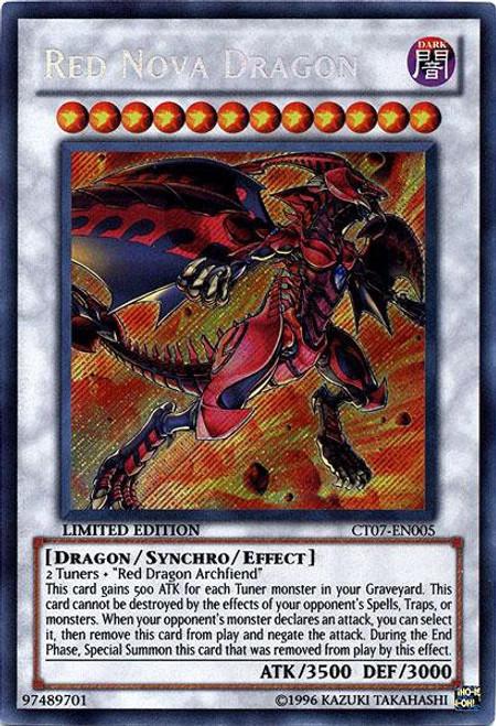 YuGiOh 5D's 2010 Collector Tin Secret Rare Red Nova Dragon CT07-EN005